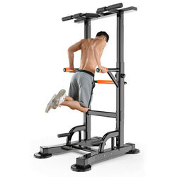 Home Gym Indoor Power Tower Workout Dip Station Pull Up Dip Exercise Equipment $132.88