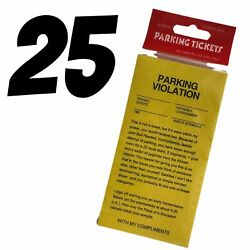 REVENGE FAKE PARKING TICKETS 25 Prank Your Friends Joke Gag Novelty $3.79
