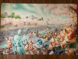 Pokemon Go Eevee evolution anime multi use Floor Table Room Mat $23.95