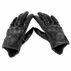 Real Leather Motorcycle Gloves Waterproof Protective Gears Motocross Gloves $14.98