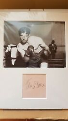 World Heavyweight Boxing Champion Max Baer Signed mounted autograph display GBP 140.00