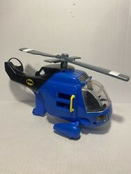 2007 Imaginext Fisher Price DC Batman Helicopter Blue No Figure Vehicle $14.99