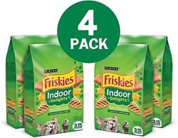 Purina Friskies Indoor Dry Cat Food Indoor Delights Pack of 4 3.15 Lb Bags $21.04