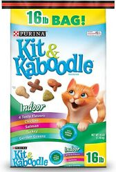 Purina Kit amp; Kaboodle Indoor Dry Cat Food Indoor 16 lb. Bag $16.87