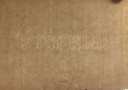 19th Century Old Blank Restoration Paper With Watermark For Manuscript $75.00