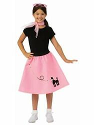 Rubie#x27;s Girls Poodle Skirt Costume L $21.69