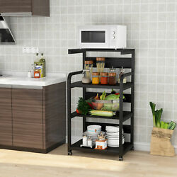 Home Office 4 Shelf Mobile Printer Stand with Storage 43.9quot;H Modern Printer Cart $86.68