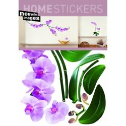 home stickers pink orchids decorative wall stickers $102.02