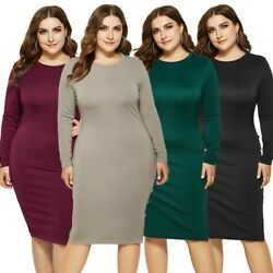 Women#x27;s Plus Size Sexy Party Dress Long Sleeve Bodycon Dress Ball Gown Dresses $22.99