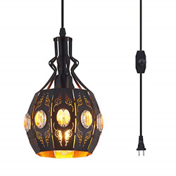 YLONG ZS Hanging Lamps Swag Lights Plug in Pendant LightRetro StyleVintage and $60.77