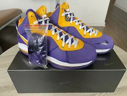 Nike LeBron 8 Lakers Size 9.5 Mens IN HAND FAST SHIP $170.00