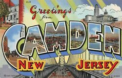 Large Letter postcard Greetings from Camden New Jersey NJ pc $5.00