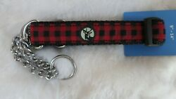 RC Pets Black and Red Plaid quot;Urban Woodsmenquot; Training Collar Martingale Style $5.00