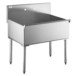 16Gauge 36quot; Commercial Kitchen Utility Sink Stainless Steel 36quot; X 24quot; X 14quot; Bowl
