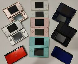 Nintendo DS Lite with charger CHOOSE COLOR Tested Pink Black Blue Clear $59.99