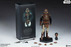 SIDESHOW 12quot; STAR WARS ROTJ LANDO CALRISSIAN SKIFF GUARD VER 1 6TH SCALE FIGURE $226.00
