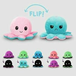 Reversible Flip Octopus Plush Stuffed Toy Soft Animal Home Accessories Baby Gift $11.99