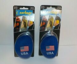Lot of 2 Vintage Earbags Bandless Ear Warmers Size Large USA Logo A3 $21.95