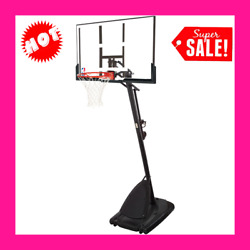 "NBA Spalding 54"" Portable Angled Basketball Hoop with Polycarbonate Backboard $330.95"
