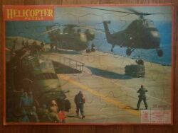 1960 SIKORSKY HELICOPTER Frame Tray Jigsaw Puzzle by Milton Bradley Co #4571 X3 $20.00
