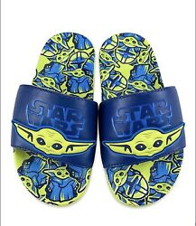 """Disney """"The Child"""" Boys 9 10 Flip Flops. New Release Fast Free Shipping $23.99"""