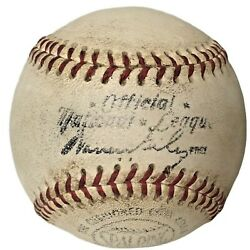 1960s Spalding National League Game Used Baseball Warren Giles Forbes Field $43.95