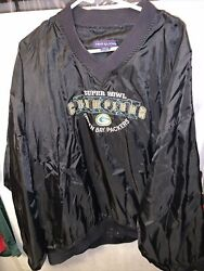 Green Bay Packers Vintage Superbowl Jacket Pull Over Fruit Of The Loom Sz XL 💯✅ $19.99