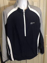 FootJoy Golf 1 2 Zip Long Sleeve Mens Windbreaker Jacket Pullover Size Large $33.99