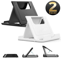2 Pack NEW Phone Holder Foldable Desk Stand Multi Angle Mount For iPhone Samsung $4.99