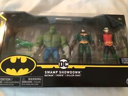 DC The Caped Crusader Swamp Showdown Exclusive Action Figure 3 Pack Batman Rob $14.99