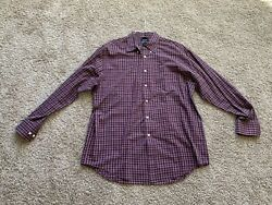 Saddlebred Easy Care Button Down Shirt Size Large $12.99