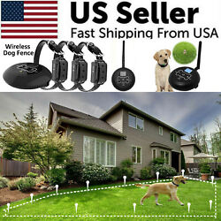 Wireless Electric Dog Fence Pet Containment System Shock Collars For 1 2 3 Dogs $35.89