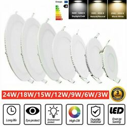 Round Recessed Ceiling Lamp LED Panel Down Lights Home Commercial Lighting $13.67