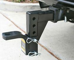 Dual Ball Mount Heavy Duty Drop Adjustable Hitch Receiver Tow Truck RV Trailer $39.99