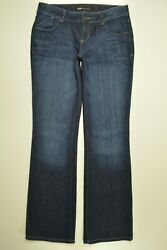 MOSSIMO Premium Size 4 Womens LOW Rise BOOTCUT Leg STRETCH Denim DARK Blue Jeans $13.93