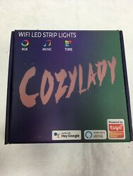 Cozylady Long LED Strips Lights Music Time RGB 65ft
