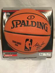 Spalding NBA Game Ball Replica Silver Series Basketball Ball Brand New Sealed $25.00