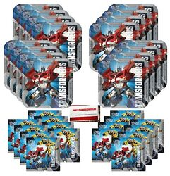 Transformers Birthday Party Supplies Bundle Pack for 16 Guests Plus Party Pl... $19.10