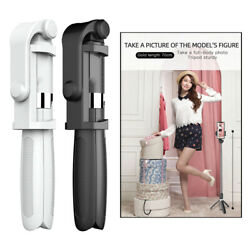 Portable Selfie Stick Tripod Mini Aluminum All in One Extendable Phone Stand $14.61