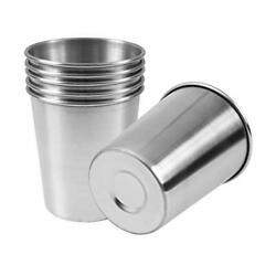 Stainless Steel Cups Shatterproof Pint Drinking Metal Drinking Glasses Pack Of 6 $18.84