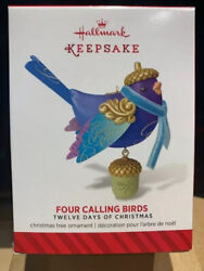 2014 HALLMARK 12 Days of Christmas quot;FOUR CALLING BIRDSquot; #4 IN SERIES $32.95