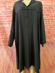 Lilith Faded Black Women#x27;s dress Long sleeves Buttons Front size large $32.00