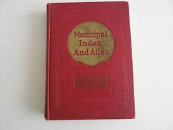 Municipal Index and Atlas 1937 hardcover book vintage street water city catalog $29.50