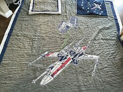 Pottery Barn Kids Star Wars quilt FULL queen size quilt and shams READ $104.99