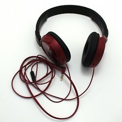 Sony Red On Ear Head Phones Wired Working Great C $29.99