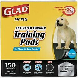 Glad for Pets Activated Carbon Dog Pee Pads Puppy Training Pads 150 count $33.84