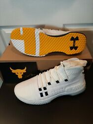 Size 12 Mens Under Armour Project Rock 1 White Gold 3020788 108 shoes $99.97