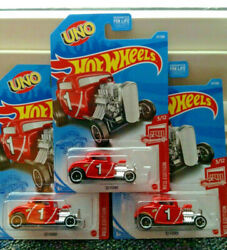 3 Hot Wheels 2021 Target Exclusive Red Edition UNO #x27;32 FORD Case D Brand New $14.99
