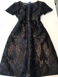 Marchesa Notte Short Cocktail Dress In Embroidered LaceSSNWTBLS6 Origin$750 $275.00