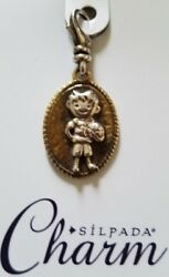 SILPADA quot;ALL STAR BOYquot; Basketball CHARM Retired .925 Sterling Silver C2545 NWT $25.00